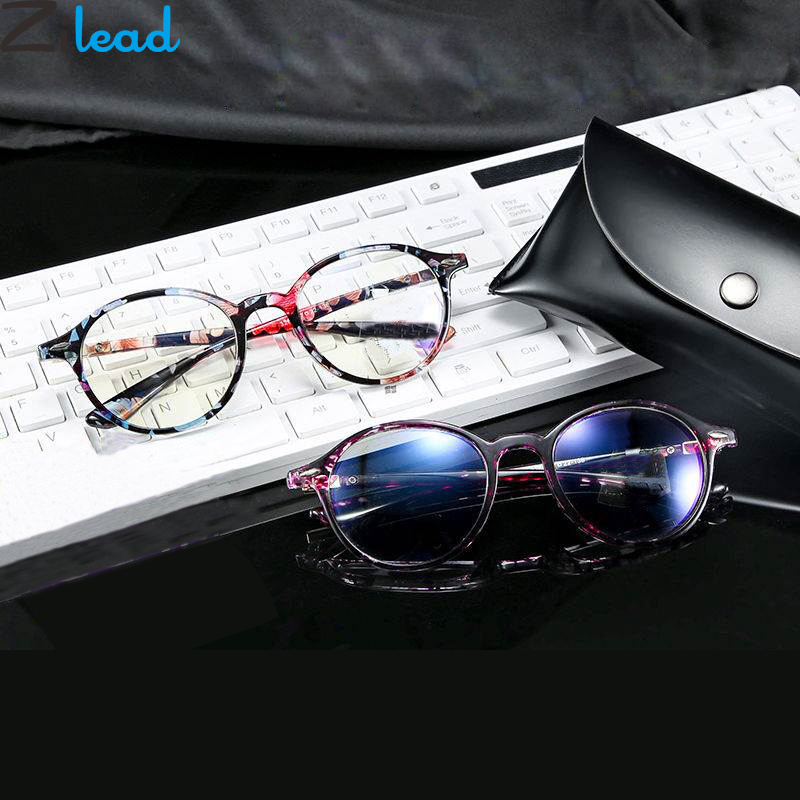 Zilead Retro Round Reading Glasses Floral Women&Men Clear Lens Presbyopic Glasses Optical Spectacle With Diopter+1.0+1.25...+4.0