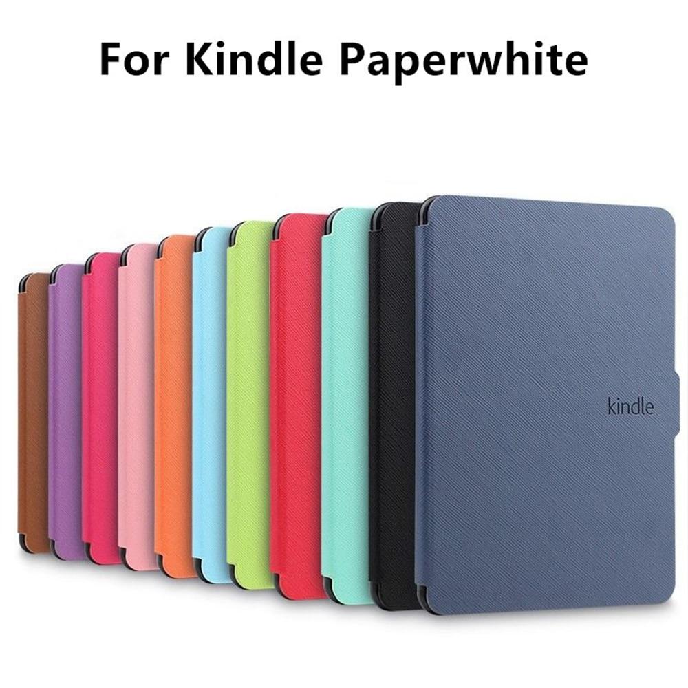 Nueva funda protectora de cuero PU magnética Ultra delgada para Amazon Kindle Paperwhite 1/2/3