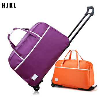HJKL 2020Fashion Women Trolley Luggage Bag Rolling Suitcase Bag Travel Bag with Wheels Carry on Luggage Suitcase фото