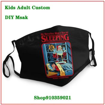 High Quality  He Sees You When You're Sleeping DIY mondmasker wasbaar mouth mask reusable kids  mascarilla reutilizable