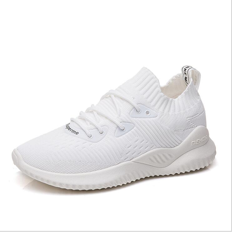Women New Breathable Ankle Socks Shoes Female Casual Elasticity Wedge Platform Sneakers