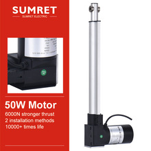 DC 12 volt plastic linear actuator reciprocating 24v micro telescopic electric   for lift 50-1000mm stroke 6000n