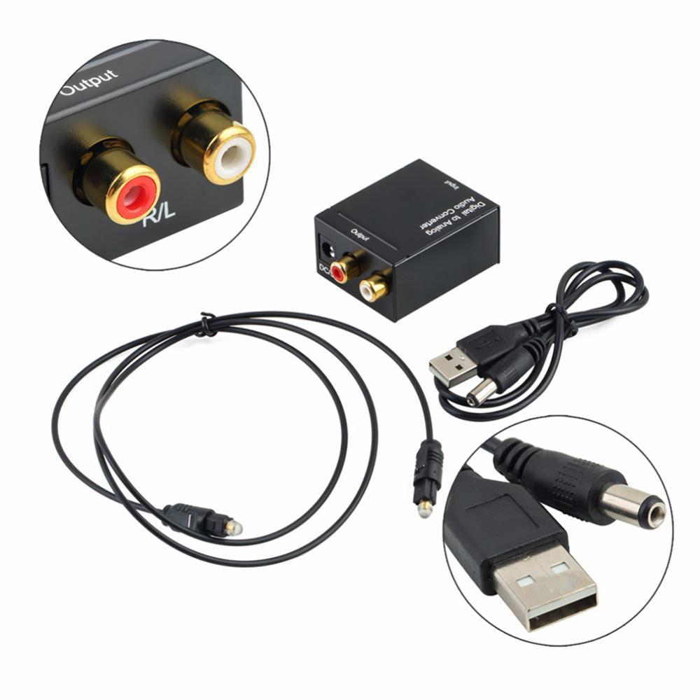 Digital Fiber Analog Audio Converter Coaxial Signal Converter Optical Cable Adapter Fiber SPDIF To RCA Audio Converter