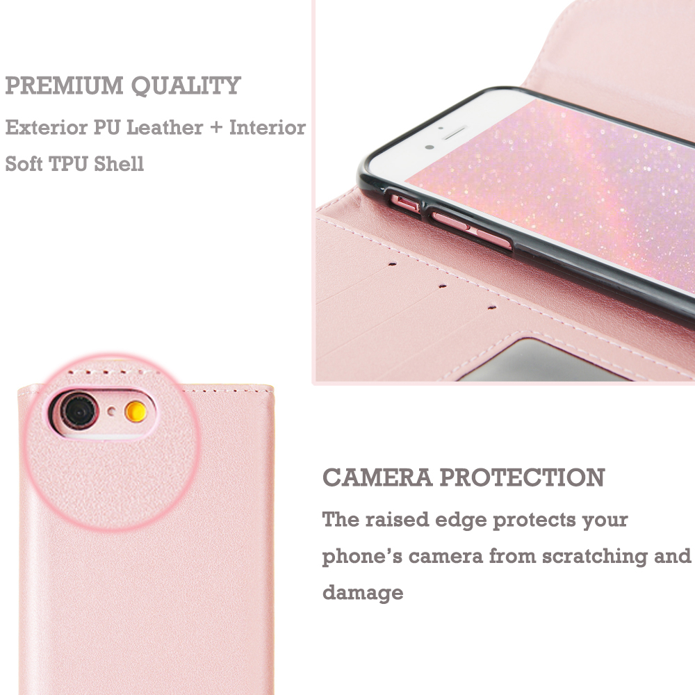 Luxury Wallet Leather Case For iPhone Xr X Xs 11 Pro Max Women Lovely Phone Bag