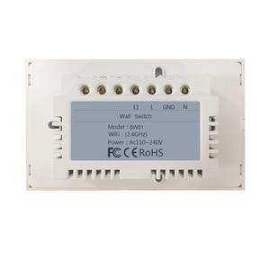 Image 3 - Wifi akıllı işık anahtarı cam ekran dokunmatik Panel ses kontrolü kablosuz duvar çalışma Alexa Echo Google ev 1/2/3/4 Gang