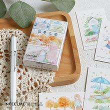 28 листов/набор песня четырех сезонов Lomo карта мультфильм Мини открытка День рождения поздравительная открытка с сообщением