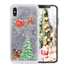 Luxury Bling Glitter Christmas Phone Case for iPhone X XS MAX XR Sparkle Liquid Quicksand Cover Cases iphone 7 8 6 S 6S Plus