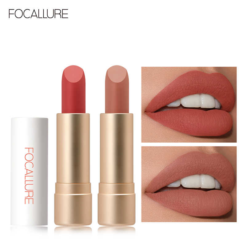 FOCALLURE Staymax Powder MatteลิปสติกWaterproof Long-Lasting Batom Lip Pigment Lip Tintเครื่องสำอางค์