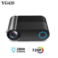 YG420 мини светодиодный проектор 1280x720 портативный беспроводной WiFi видео проектор 2800 люмен 720 P VGA HDMI домашний портативный проектор