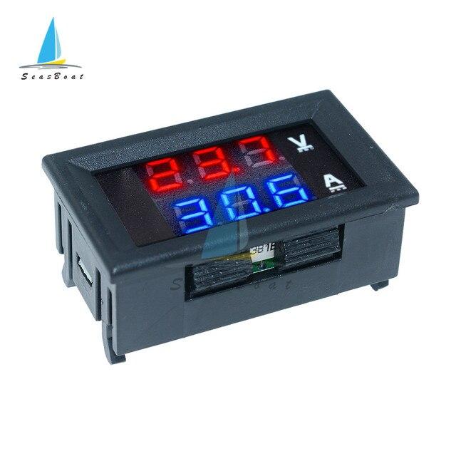 0.56'' 0-100V 10A 50A 100A LED Digital Voltmeter Ammeter Car Motocycle Voltage Current Meter Volt Detector Tester Monitor Panel 5