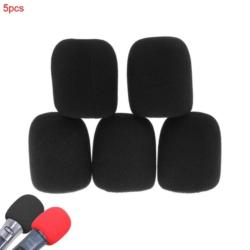 5pcs Universal Thickened Washable And Breathable Microphone Accessories Foam Cover Handheld Microphone Cover