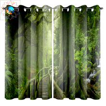 3D Room Curtains Natural Forest Blackout for Living Double Bedroom Rideaux Tende Gordijnen Firany Vorhang
