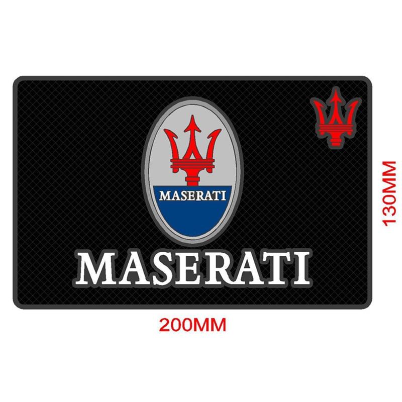 Car Styling etiqueta do carro emblemas Anti Slip Mat capa para Maserati Quattroporte Ghibli GranTurismo Gran Cabrio Levante Acessórios