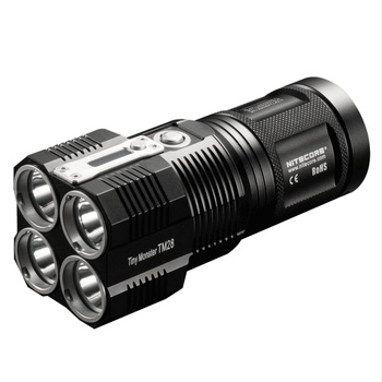 SALE! NITECORE 6000LMS 4xCREE XHP35 HI LED Rechargeable Hight Light Flashlight TM28 Gear Hunting Outdoor Searching Free Shipping