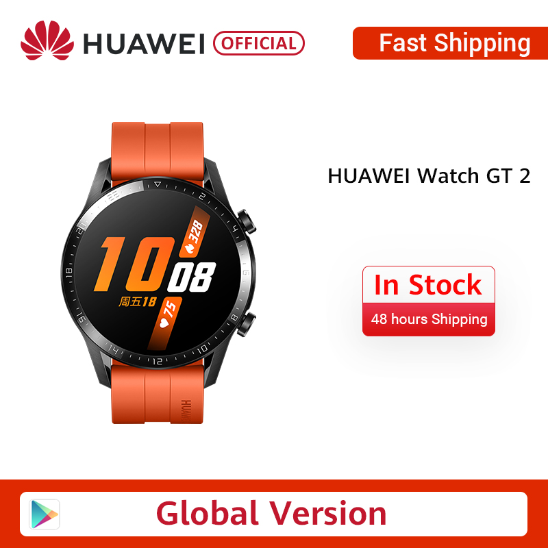 In Stock Original HUAWEI Watch GT 2 GT2 Smart 46MM GPS Life Waterproof Bluetooth Phone Call Heart Rate For Android IOS CN Versio