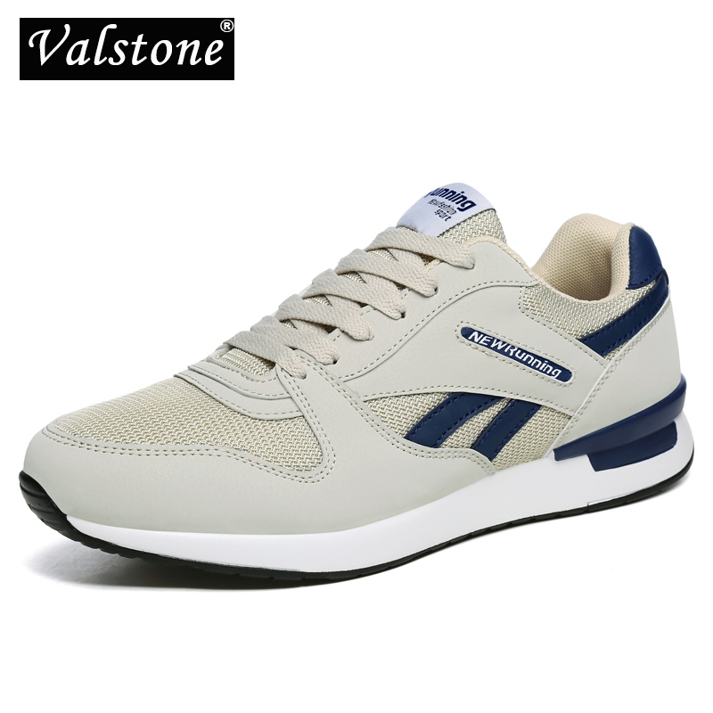 Valstone Breathable Men's Autumn Sneakers Mesh Air Trainers Women Antiskid Outdoor Walking Shoes Light Weight White Red Black