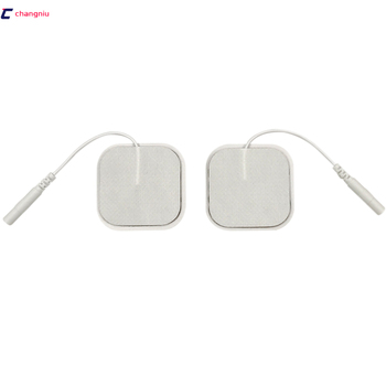 DHL freeshipping 1000pcs/lot(500 pairs) 4*4cm Tens Electrode Pads for Slimming Massage Digital Therapy Machine Massager