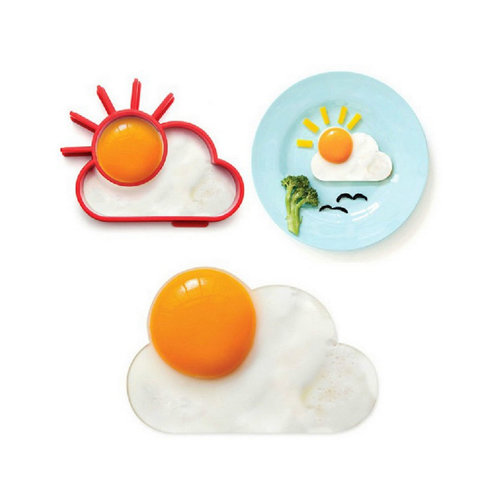 Sun Shape Eggs Mould Silicone Fried Egg Pancake Ring Omelette Fried Egg Cloud For Cooking Breakfast Kitchen Accessories