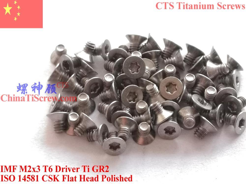 ISO 14581 титановый винт M2x3 M2x4 M2x5 M2x6 плоская головка Torx T6 Драйвер 25 шт. Ti GR2