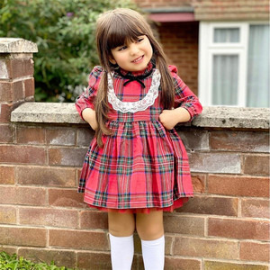 My First Christmas Baby Girls Dress Autumn Winter Kids Dresses For Girl 2020 Long Sleeve Little maid Costume new Year's gift D30
