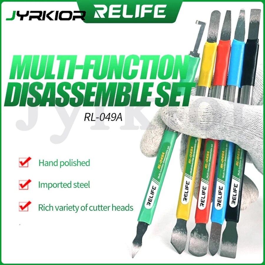 RELIFE RL-049A зубная щетка с двумя головками и многофункциональный посторонних нож для iPhone Android удалить стеклянная задняя крышка олова скребковы...