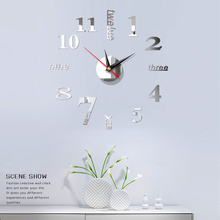 Clock Watch Wall Clocks 3D Diy Acrylic Mirror Stickers Home Decoration Living Room Quartz Needle diy wall clock acrylic mirror stickers art home decoration
