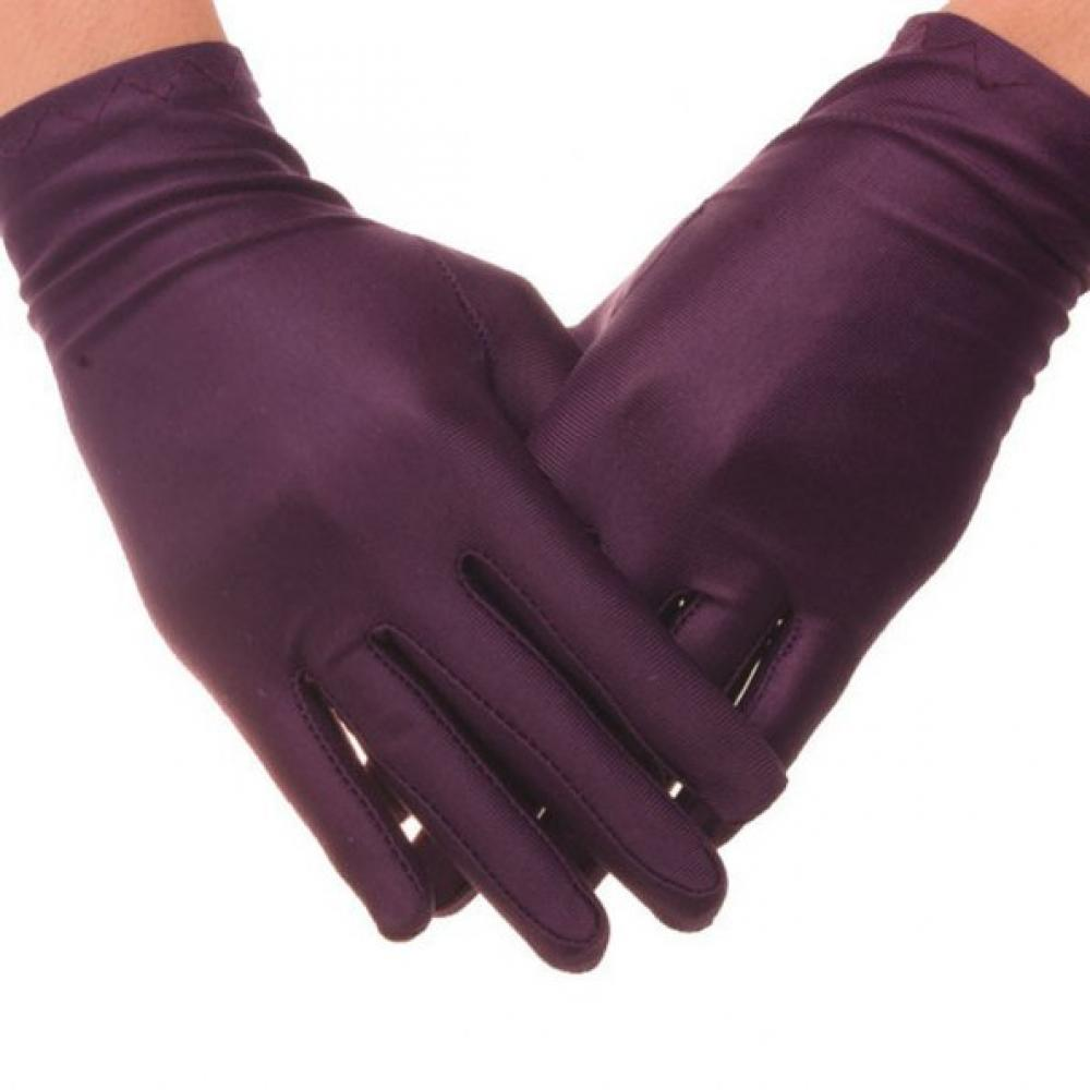Satin-Gloves Stretch Thin Evening-Party White Women Dance-Tight Formal Hot-Sale 5-Colors