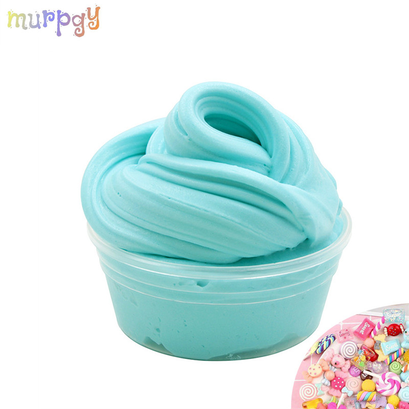 60ml Butter Slime Fluffy Charms Model Clear Slime Supplies Soft Clay Polymer Playdough Putty Slime Kits Kids Toys For Children