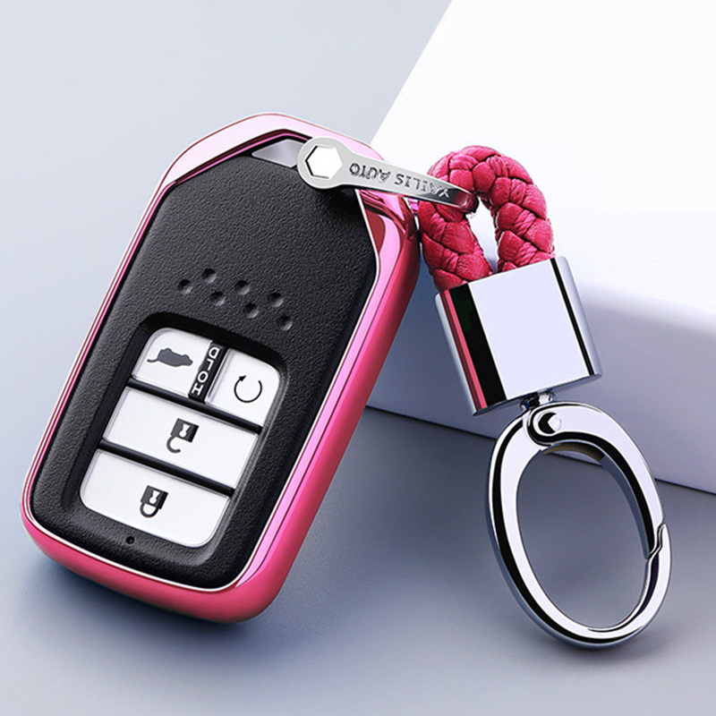 Image 4 - For Honda For Fit For Civic For HR V CRV Odyssey Accord 2013 2017 TPU Black Car Styling Remote Smart Key Cover Fob Case Shell-in Key Case for Car from Automobiles & Motorcycles