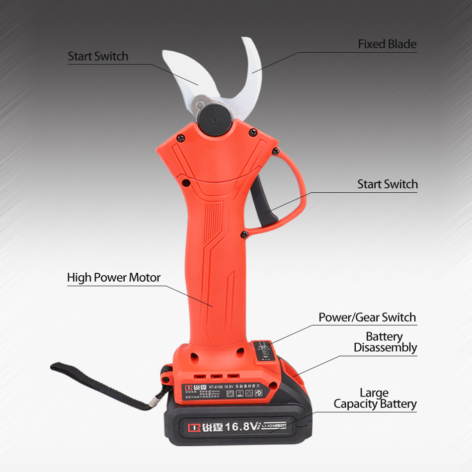 Clearance SaleCordless Pruner Cutter Bonsai Branches Fruit-Tree Landscaping Efficient Lithium-Ion