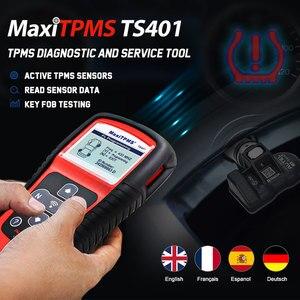 Image 2 - Autel MaxiTPMS TS401 narzędzie TPMS OBD2 skaner aktywować skanowania czujnik TPMS kopii OE identyfikator, aby Mx czujnik programowania Autel TPMS czujnik Mx