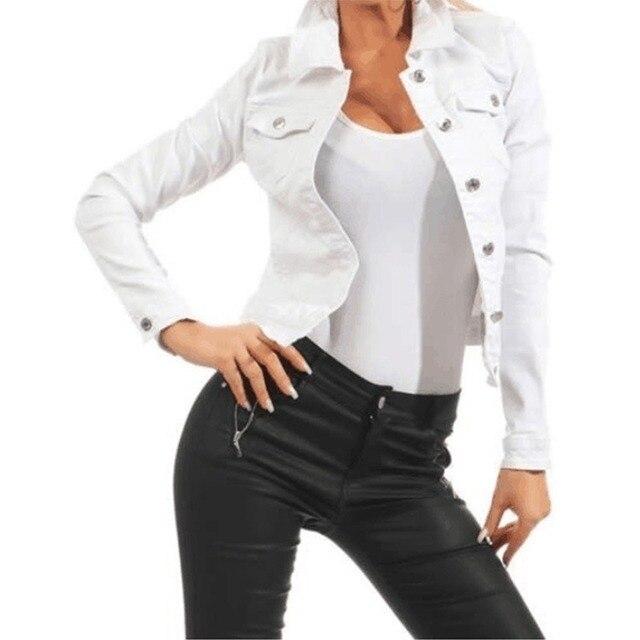 винтажная женская джинсовая куртка в стиле харадзюку повседневная фотография