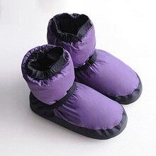 Profissional ballet warm ups para mulher pointe sapatos de dança botas macias proteção pé quente bailarina botas
