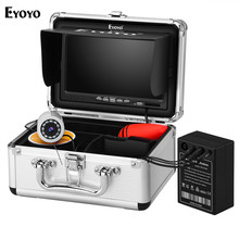 Eyoyo EF07H 7″ Underwater Fishing Camera Fishing Camera Fish Finder Upgrated 720P Camera 12 IR Lights with 1024×600 IPS Monitor