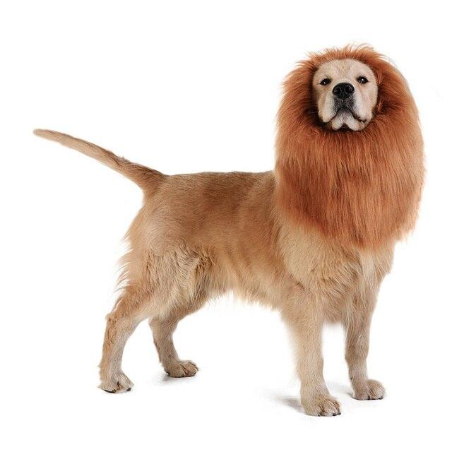 Duże zwierzę domowe pies lwia grzywa peruka boże narodzenie pies peruka kostium przebranie prezent na Halloween Cosplay Funny Hat Cap Pet Cute Dress