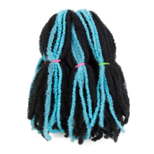14 inch Pure Color Marley Braids Hair Crochet Braids Natural Soft Afro Kinky Synthetic Braiding Hair Extensions Bulk Blue Brown