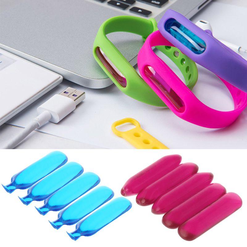 5pcs Anti-Mosquito Oil Capsule Mosquito Repellent Soft  Durable Bracelets Accessories