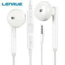 Lenrue com fio earphons fones de ouvido jogos com microfone 3.5mm com fio fone para xiaomi iphone 11 portátil música