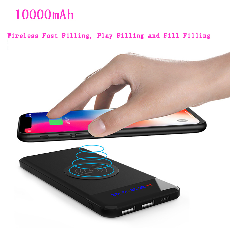 power bank 10000mah New digital display stand wireless charging mobile power 10000mAh Power Bank wireless charging treasure in Power Bank from Cellphones Telecommunications