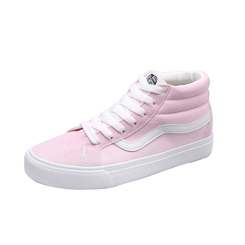 Classic Women's pink orange sk8 mid Skateboarding Shoes woman Outdoor  Sports Skate Canvas Mid Top Sneakers Women's Vulcanize Shoes  - AliExpress