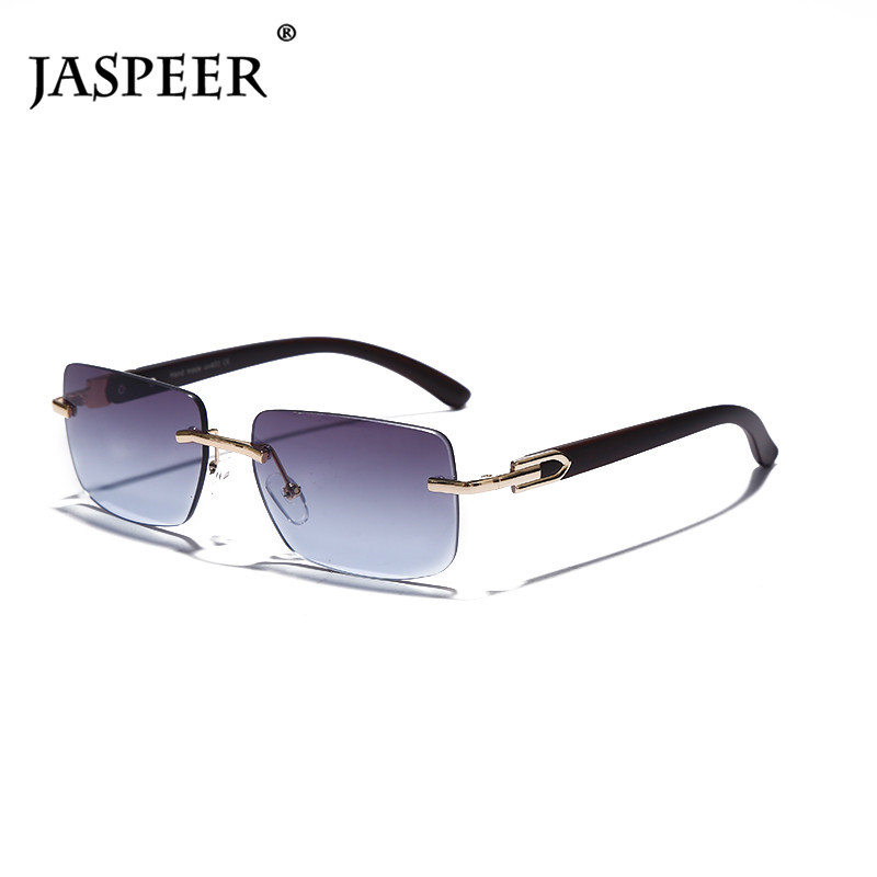 Punk Rimless Rectangle Sunglasses Men Women Vintage Shades UV400 Driving Sun Glass Frameless Gradient Fashion Eyewear 1