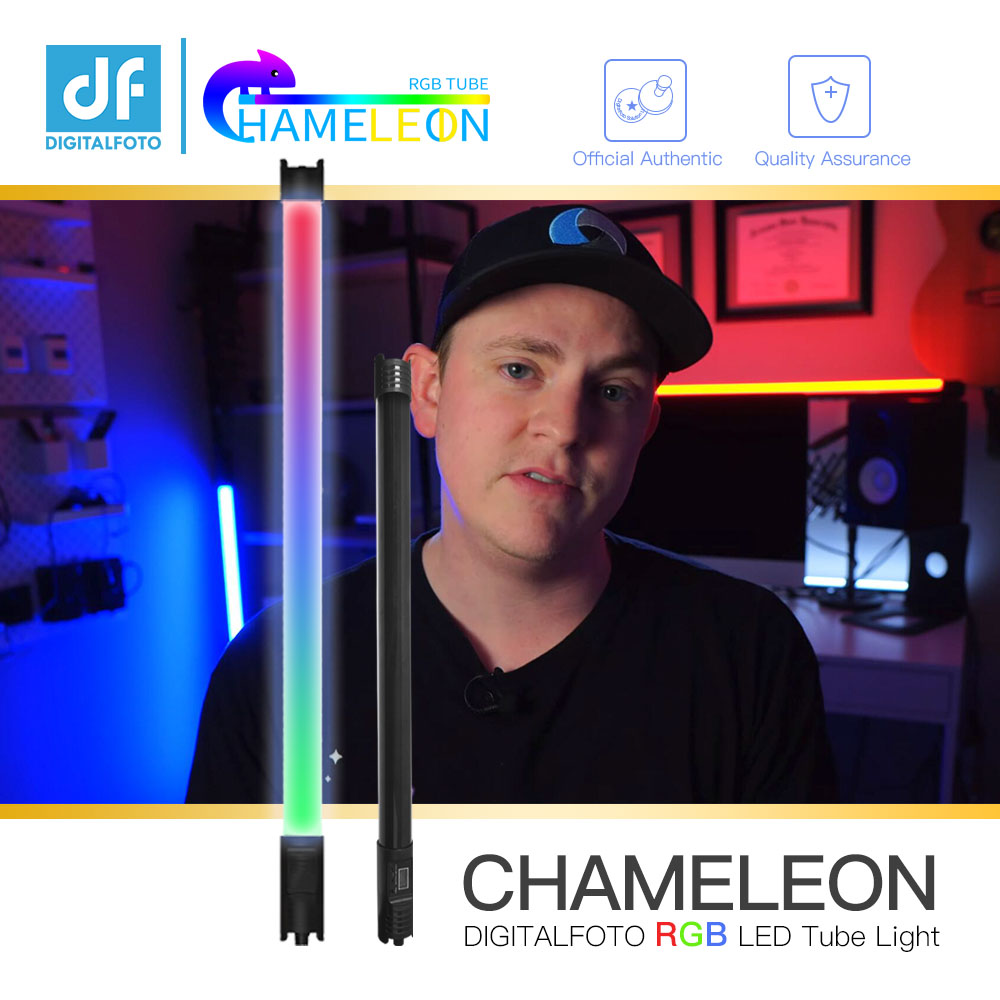 DF chameleon RGB LED tube light Colourful Special effects film photography Hold lamp for Video youtube live stream