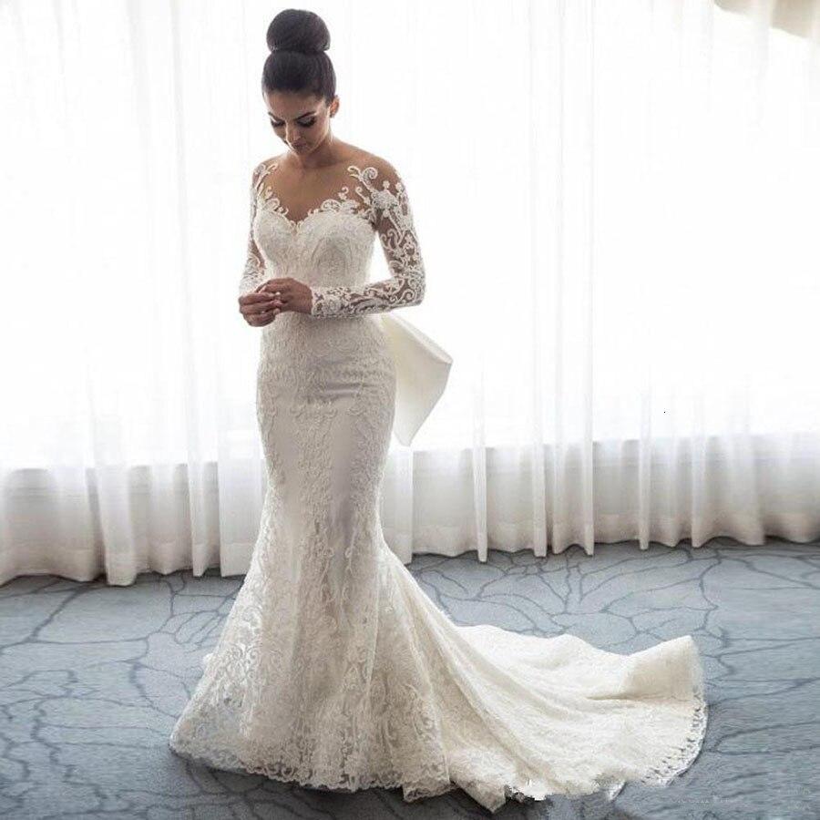 2018-luxury-mermaid-wedding-dresses-sheer