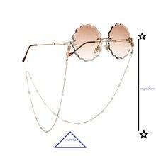 Fashion Women Gold Eyeglass Chains Sunglasses Reading Beaded Glasses Chain Eyewears Cord Holder neck strap Rope Eyewear Retainer