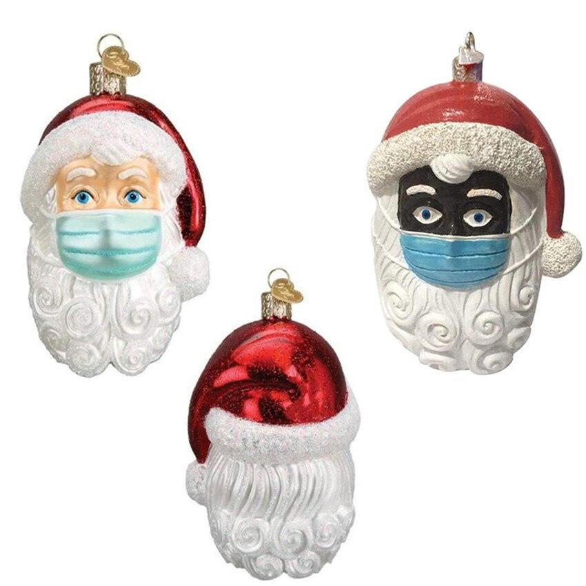 2020 DIY карантин рождественские украшения куклы Санта-Клаус Персонализированная Рождественская елка подвеска ручная работа украшение Санта