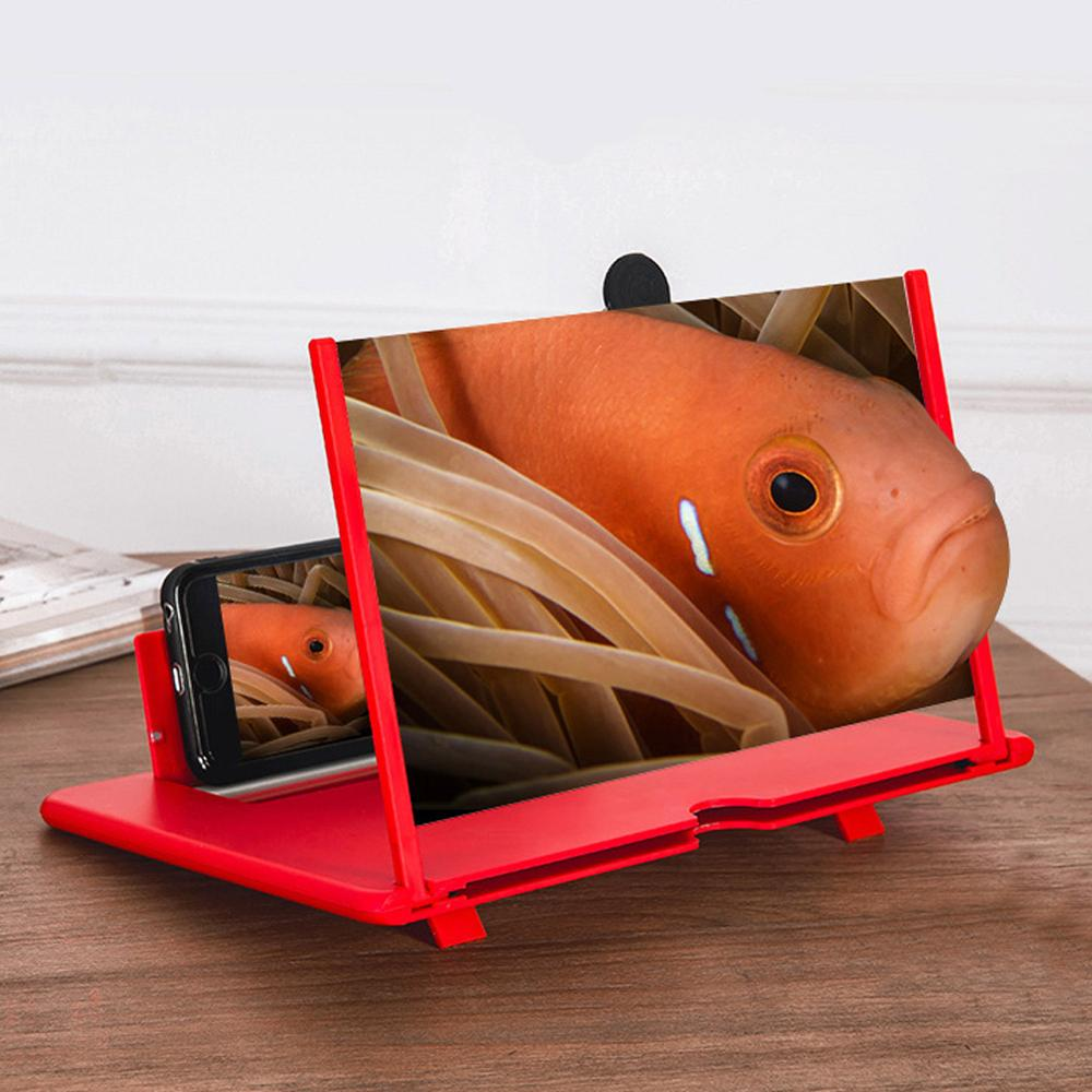 Mobile Phone Screen Magnifier 3X Magnification Pullable Screen Universal Phone Foldable Holder Stand