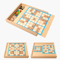 Wooden Word Puzzle Games Soduku Flight Chess Gobang Intelligence Educational Toys For children