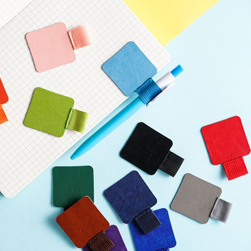 2020 2PCS Sharkbang Self-adhesive PU Leather Notebook Pen Holder For Diary Planner Clip Accessores School Kawaii Stationery