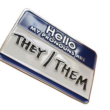 Не бинарный пол отворот штифт они/они значки гентальное напоминание художественные украшения|Броши|   | АлиЭкспресс