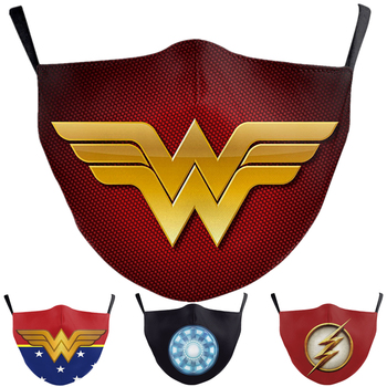 Superhero The Flash Thanos Iron Man Wonder Woman Cosplay Face Mask Dustproof Adult Kids Masks